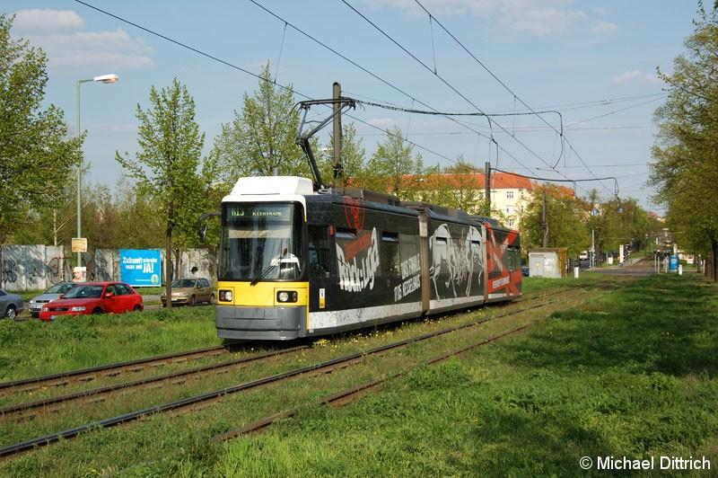 Bild: 1004 als Linie M13 kurz vor der Bösebrücke.
