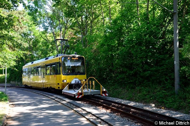 Bild: Zahnradbahn 1001 zwischen den Haltestellen Zahnradbf. und Nägelestr.
