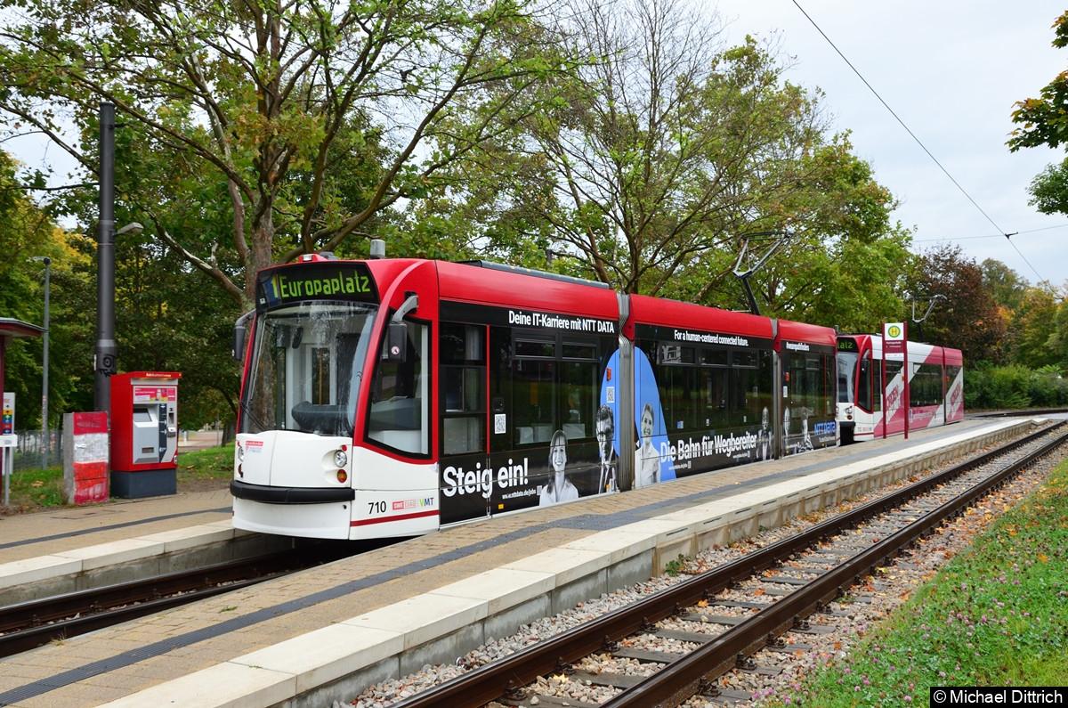 710 + 712  als Linie 1 an der Thüringenhalle.