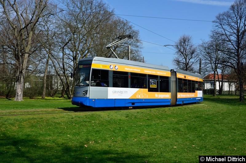 1347 als Linie 2 in der Wendeschleife Naunhofer Str.