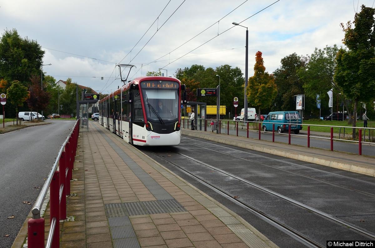 806 als Linie 1 an der Mittelhäuser Straße.