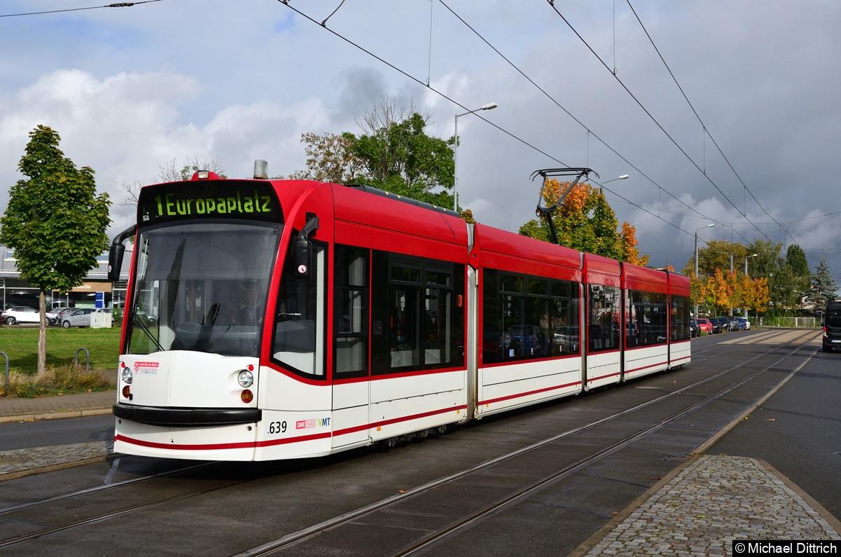 639 als Linie 1 an der Mittelhäuser Straße.
